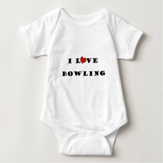 I Love Bowling.png Baby Bodysuit