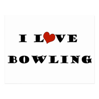 I Love Bowling.png Postcard