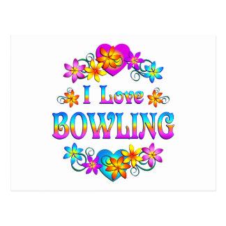 I Love Bowling Postcard