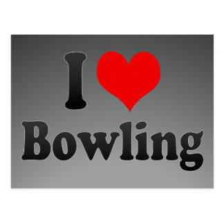 I love Bowling Postcards