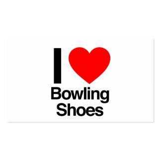 i love bowling shoes business card template