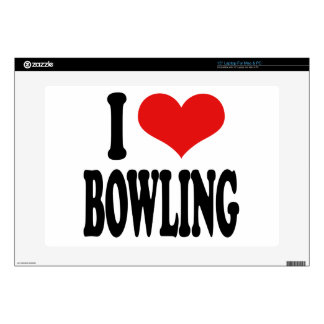 "I Love Bowling Skins For 15"" Laptops"
