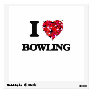 I Love Bowling Wall Stickers