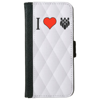 I Love Bowling Wallet Phone Case For iPhone 6/6s