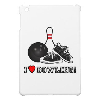 I Love Bowling with Ball, Shoes and Pin Cover For The iPad Mini