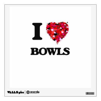 I Love Bowls Wall Stickers