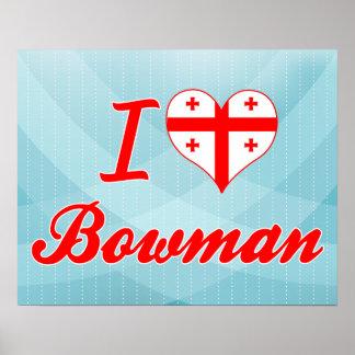 I Love Bowman Georgia Print