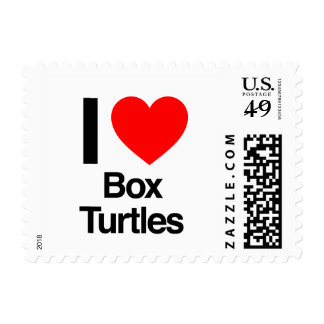 i love box turtles postage stamps