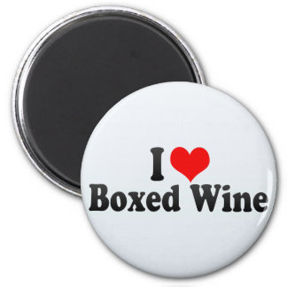 I Love Boxed Wine 2 Inch Round Magnet