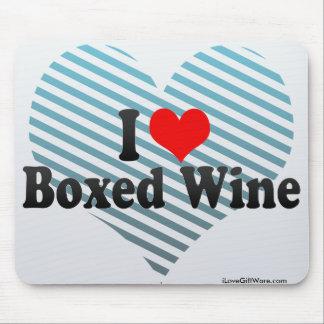I Love Boxed Wine Mousepad