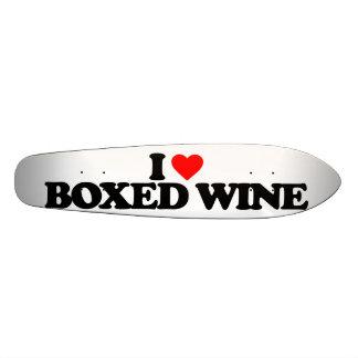 I LOVE BOXED WINE SKATEBOARD DECK
