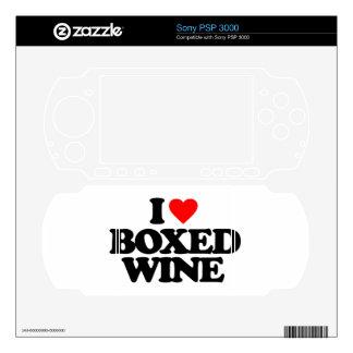 I LOVE BOXED WINE SKINS FOR PSP 3000