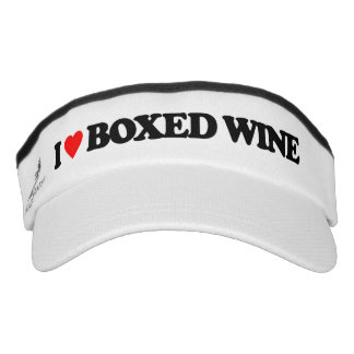 I LOVE BOXED WINE VISOR