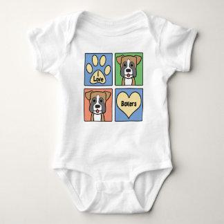 I Love Boxers Baby Bodysuit