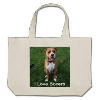 I love Boxers Canvas Bags