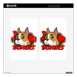 I Love Boxers Decal For Kindle Fire