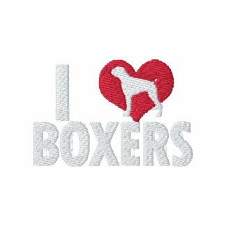 I Love Boxers Embroidered Hooded Sweatshirts