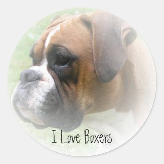 I Love Boxers Sticker