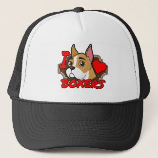 I Love Boxers Trucker Hat