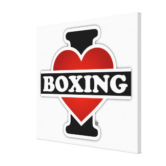 I Love Boxing Canvas Print