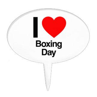 i love boxing day cake picks