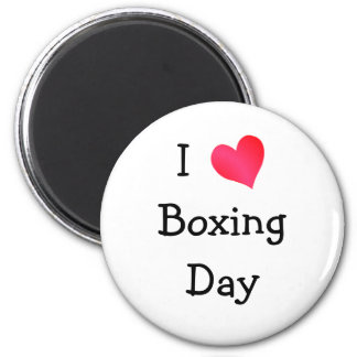 I Love Boxing Day 2 Inch Round Magnet