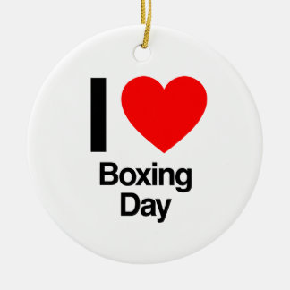 i love boxing day ornaments