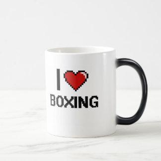 I Love Boxing Digital Retro Design 11 Oz Magic Heat Color-Changing Coffee Mug