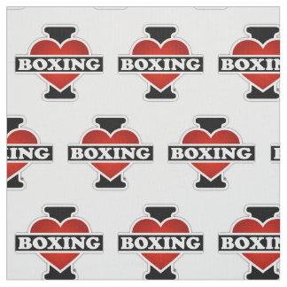 I Love Boxing Fabric