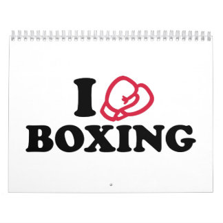 I love boxing gloves wall calendars