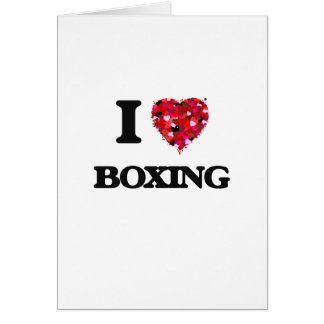 I Love Boxing Greeting Card
