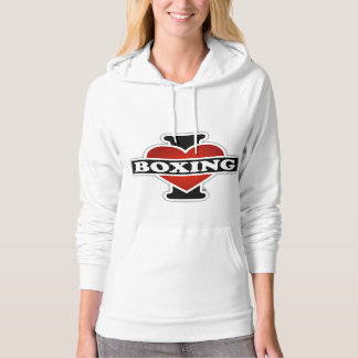 I Love Boxing Hooded Pullover