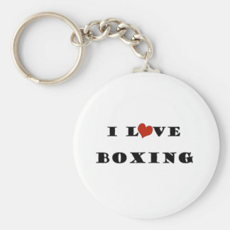 I Love Boxing.png Basic Round Button Keychain