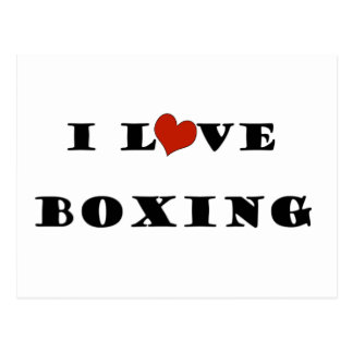 I Love Boxing.png Post Cards