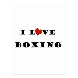 I Love Boxing.png Postcard