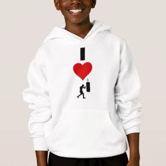 I Love Boxing (Vertical) Hoodie