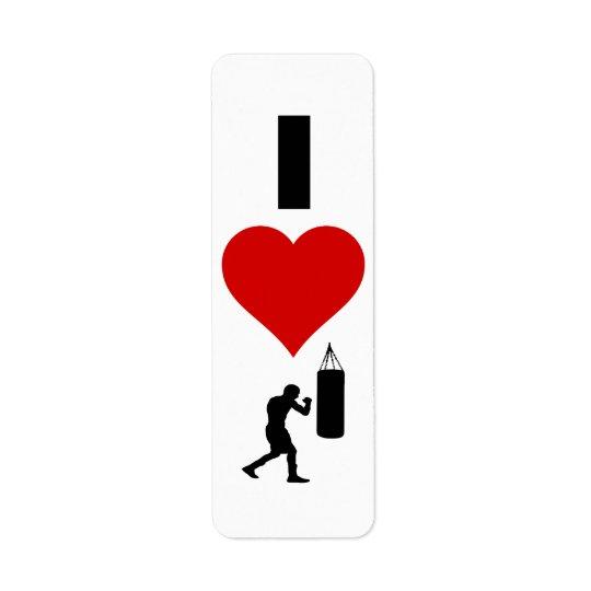 I Love Boxing (Vertical) Label