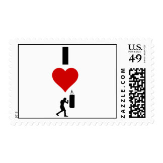 I Love Boxing (Vertical) Postage