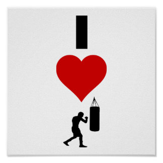 I Love Boxing (Vertical) Poster