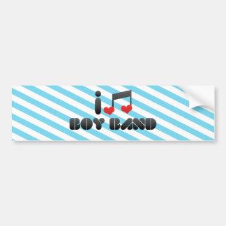 I Love Boy Band Bumper Sticker