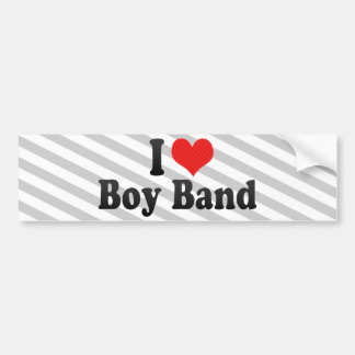 I Love Boy Band Bumper Sticker