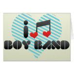 I Love Boy Band Greeting Card