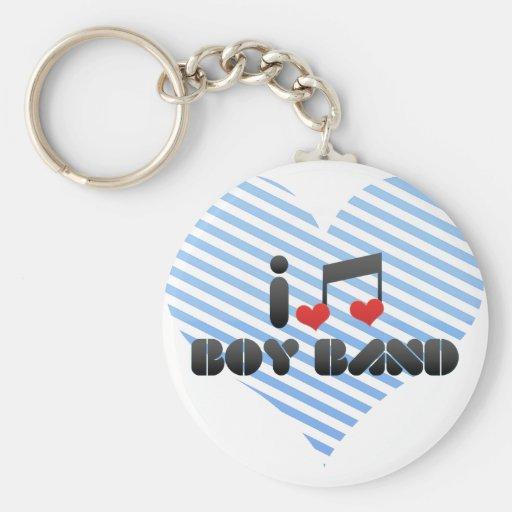 I Love Boy Band Key Chain