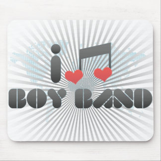 I Love Boy Band Mouse Pad