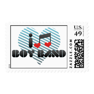 I Love Boy Band Postage Stamps