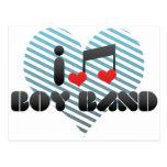 I Love Boy Band Postcard