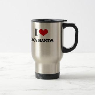 I Love BOY BANDS 15 Oz Stainless Steel Travel Mug