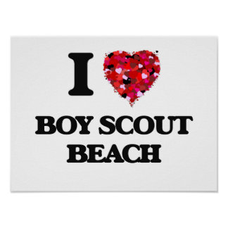 I love Boy Scout Beach Maryland Poster