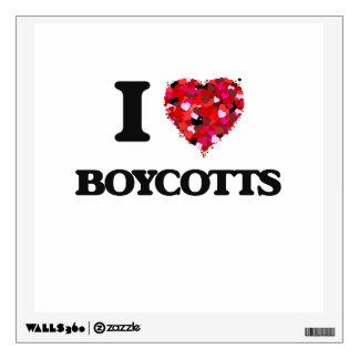 I Love Boycotts Wall Decor