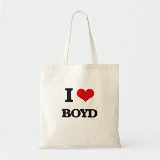 I Love Boyd Budget Tote Bag